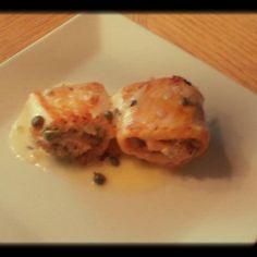 Stuffed Salmon Roll with Creamy Lemon Butter Sauce