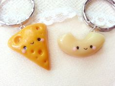 Mac and Cheese Friendship Keychains