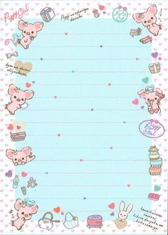 pink Piggy Girl glitter Memo Pad with pig & perfume 3