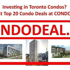 Who is investing in #Toronto condos? Why not inspect Top 20 #condo deals @CONDODEALca aka #CondoDeal.ca in the #GTA? Tag/#Twitter what you #like:-) #realestate #condos #investing #deals #Tdot #YYZ #The6ix #Ontario #Canada #TorontoRealEstate #condominiums #invest #TorontoCondos #realtors #TorontoDeals #preconstruction http://condodeal.ca