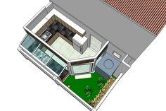 ครัวไทยนอกบ้านเปิดโล่ง - Google Search Backyard Kitchen, Home Decor Kitchen, Kitchen Interior, Apartment Kitchen, Kitchen Ideas, Craftsman Bathroom, Exterior Stairs, Two Storey House, House Wall