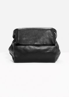 & Other Stories | Leather Fold Over Bag