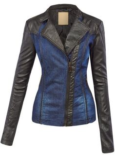 LL Womens Hooded Faux leather Jacket ✮✮✮✮  778 customer reviews. Color: WJC1014_BLACK_BLUE. 100% POLYURETHANE (shell) 100% POLYESTER(lining) Exposed zipper details Fully lined Medium weight HAND WASH COLD / HANG TO DRY / DO NOT IRON / DO NOT DRY CLEAN. https://twitter.com/TheMarketer2015/status/644553807125417985