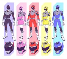 Transformers themed Power Rangers Commissioned by Any ideas for the name? Here are the rangers Red Power Rangers Fan Art, Power Rangers Comic, Power Rangers Cosplay, Power Rangers Megazord, Mighty Morphin Power Rangers, Ranger Armor, Power Rengers, Character Art, Character Design