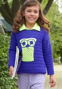 Caron International | Free Project | 'Who's There?' Pullover