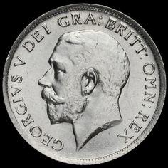 1915 George V Silver Shilling, A/UNC