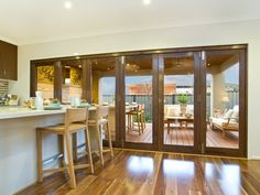 two sets of three stacking back timber doors - Google Search