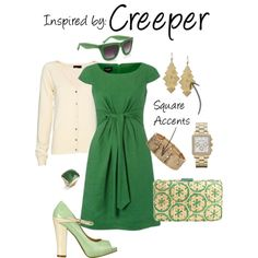 Creeper (MineCraft), created by ladysnip3r on Polyvore