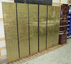 Antiqued gold glass #antiquemirrors #verreeglomise #gildedglass