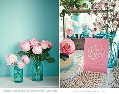 turquoise and pink wedding inspiration 020 Pink  Turquoise Tea Party {Decor Inspiration}