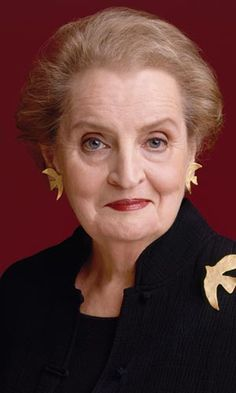 Madeleine Albright.  love the humor in her eyes here.