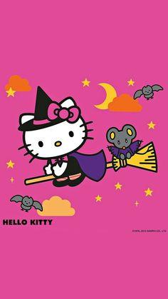 """hall–o–ween: """"🎃🍂👻 41 Days 👻🍂🎃 """" Hello Kitty Art, Hello Kitty Items, Here Kitty Kitty, Hello Kitty Halloween, Hello Kitty Pictures, Kitty Images, Hello Kitty Backgrounds, Hello Kitty Wallpaper, Halloween Iii"""
