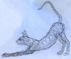 World Class Wire Sculpture by Elizabeth Berrien - Cats, Part 3