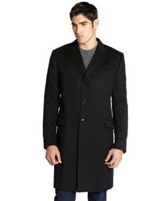 Gucciblack wool button front coat