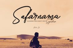 FREE font of the week: Safarnama Signature is a gorgeous and fashionable handwritten script. Give your projects typographic harmony with this well balanced and casual script font.