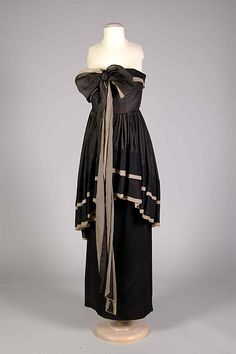 Evening dress Attributed to Marcel Rochas  Date: 1951–53 Culture: French Medium: Silk Accession Number: 2009.300.7111a, b