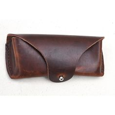 This eyeglass case is made of Horween leather and handstiched with linen thread. Solid Brass/Nickel Plated Solid Brass Hardware. A classic design to hold your glasses. $125