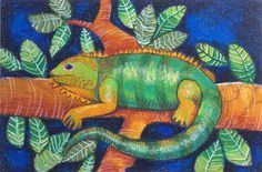 iguana  						    							Student Name :  							Calvin Su  						    						    							Artwork Title :  							The King Iguana of Forest  						    						    							School Name :  							Apple Art Studio  						    						    							Teacher :  							Paula Wang  						    						    							School Address :