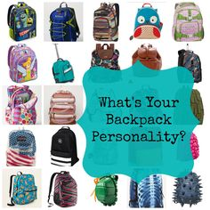 Personality Packed Back to School Backpacks