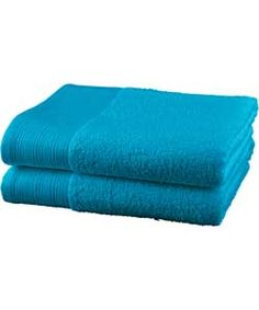 ColourMatch Pair of Hand Towels - Lagoon.