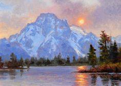Moran Sunset Lake