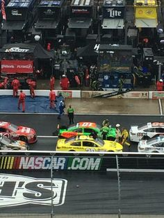 It rained the whole time, by the bucket fills! Bristol Race, Food City 500, Basketball Court, Bucket, Lol, Racing, Sports, Running, Hs Sports