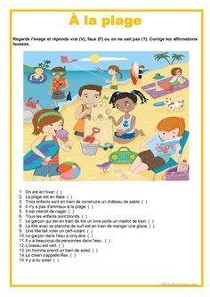 Creative Writing 813040538960990668 - Description image – À la plage Source by Creative Writing Worksheets, 2nd Grade Reading Worksheets, English Creative Writing, Social Studies Worksheets, English Lessons For Kids, English Fun, French Lessons, French Flashcards, French Worksheets