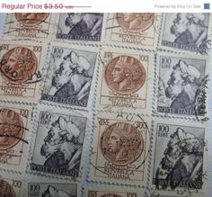 ON SALE Italian Stamps Poste Italiane Syracuse by ValueARTifacts