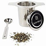 #7: Tea Infuser Strainer  Spoon by Bar Brat / Premium Micro Filter Stainless Steel Steeper / 110 Cocktail Shaker Ebook Included