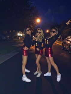 Halloween Costumes For Teens Girls, Cute Group Halloween Costumes, Trendy Halloween, Halloween Outfits, Halloween Party, Costumes Kids, Trio Costumes, Group Costumes, Couple Halloween