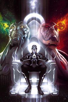 Justice League #40 cover by Alex Garner