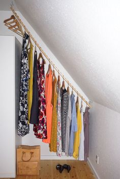 Attic Rooms, Attic Spaces, Closet Bedroom, Bedroom Decor, Slanted Ceiling Bedroom, Barn Conversion Interiors, Deco Studio, Attic Storage, Diy Storage