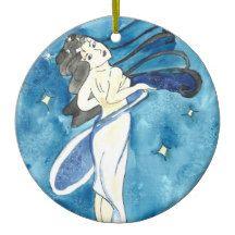 Tähdetär The Star Goddess Ceramic Ornament Star Goddess, Goddess Art, Wild Deer, Mermaid Ornament, Small Christmas Stockings, Winter Fairy, Water Dragon, Pet Supplies, Original Paintings