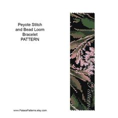 Note: single peyote stitch pattern is pictured. * This bracelet pattern for even count peyote stitch, 2 drop peyote or a version for bead loom