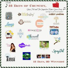 On the Second Day of Crunchy, Spray Pal and The Inquisitive Mom Gave Away…  Prize 4 (US and Canada) Jaq Jaq Bird Wet Bag and Bottle HolderandOops! Undies One 2 Pack of Waterproof Bamboo Kids Underwea