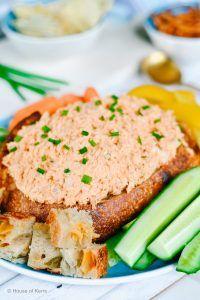 Buffalo Chicken Dip Sourdough Bread Bowl Recipe | La Cucina di Kerrs -