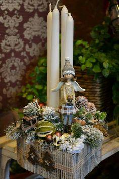 Christmas Advent Wreath, Christmas Gift Box, Christmas Candles, Christmas Is Coming, Country Christmas, Winter Christmas, Christmas Home, Handmade Christmas, Christmas Crafts