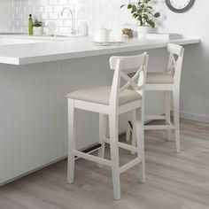 White Bar Stools, Bar Stools With Backs, Wooden Bar Stools, Best Bar Stools, Island Chairs, Stools For Kitchen Island, Kitchen Tables, Kitchen Islands, Counter Stools