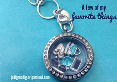 This is the perfect locket for me - iPhone, flip flops, purse, sunglasses, an turquoise bling! (new Origami Owl charms in stock!) jodigrundig.origamiowl.com