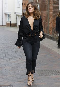 Looking good: Chloe Lewis who injected some much needed glamour into The Only Way Is Essex while shooting new scenes in Colchester on Wednesday