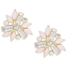 Cara Floral Cluster Stud Earrings found on Polyvore featuring jewelry, earrings, accessories, joias, pink, pink jewelry, earrings jewelry, floral stud earrings, studded jewelry and plastic jewelry