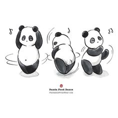 'Panda Food Dance' Travel Mug by Panda And Polar Bear Panda Illustration, Panda Wallpapers, Cute Wallpapers, Animal Drawings, Cute Drawings, Cute Panda Drawing, Bear Drawing, Panda Food, Cartoon Panda