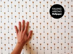 Our Falling Arrows wallpaper is playful and sophisticated. This self  adhesive material is is easy to apply and easy to remove.  A perfect way to cheer up a dark space, drab cupboard, or cabinet. This  wallpaper is ideal for DIY projects and rental flats. All wallpaper has a  1-2 week turn around! If installed properly, wallpaper can last up to 20  years and be removed at any time.  DETAILS:  - Removable wallpaper  - PVC-free paper, durable and eco-friendly  - Self-adhesive: soak in water ...