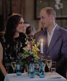 The royal look of love. Dinner and a movie with the Love of My Life for 7,300 nights+....How long have we waited? To date, 4,198 days.  I cannot wait - I am more excited than any person in the entire world --- I cannot wait to be with you, my Love!!!  Thank you!