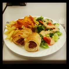 Sausage Rolls w/Pasta and Tomato Sauce! <3