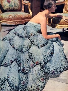 christian dior gown - 1949, photo: horst p. horst