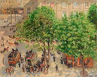 Place Du Theatre Francais: Spring by Camille Pissarro Handmade oil painting reproduction on canvas for sale,We can offer Framed art,Wall Art,Gallery Wrap and Stretched Canvas,Choose from multiple sizes and frames at discount price. Famous Impressionist Paintings, Famous Art Paintings, Impressionism Art, Camille Pissarro, Oil Canvas, Oil Painting On Canvas, Monet, Rue Saint Honoré, Paris Art