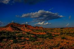 Red ground and blue sky... must be Caprock Canyons State Park! ~ Derrick Birdsall