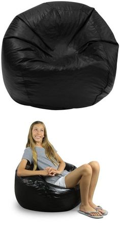 Eight foot Oval Microfiber and Memory Foam Bean Bag