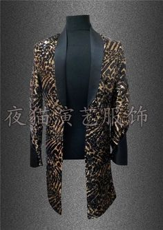 Multicolor Sequins Long Style Men Jacket Costume Nightclub Bar Singer Dancer Luxury Outfit Coat Stage Dj Ds Performance Clothes Fragrant Aroma Jackets